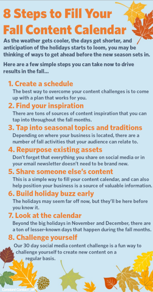 8 Steps to Fill Your Fall Content Calendar image 8 steps to fill your fall calendar