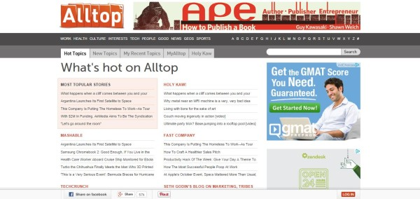 Tools That Enhance Your Content Marketing Efforts image Alltop.jpg 600x284