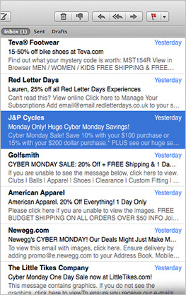 10 Steps for the Most Successful Black Friday & Cyber Monday Email Marketing Program Ever image Busy inbox.png