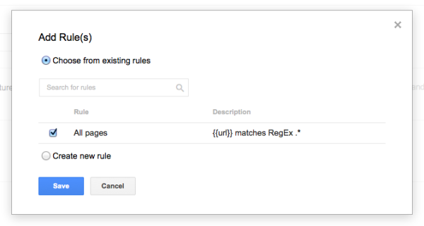 A Beginner's Guide to Google Tag Manager image ga firing rule 600x321