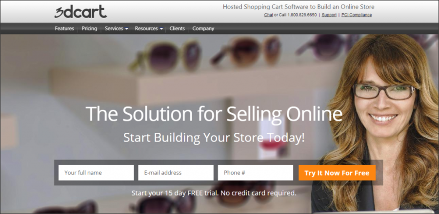 16 Online Shopping Cart Solutions For Small Businesses image 3dcart 1024x501.png 900x440
