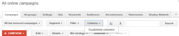 Which Google AdWords Conversion Rate Should You Be Tracking? image AdWords Customize Columns.png 600x123