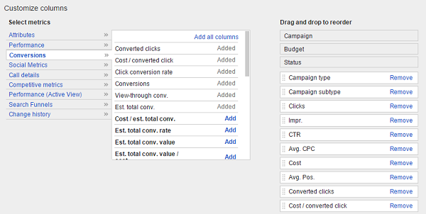Which Google AdWords Conversion Rate Should You Be Tracking? image AdWords custom columns detail.png