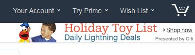Should You Holiday ify Your Web Site? image amazonholiday.JPG