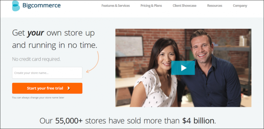 16 Online Shopping Cart Solutions For Small Businesses image bigcommerce 1024x502.png 900x441