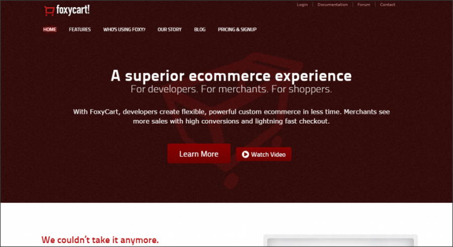 16 Online Shopping Cart Solutions For Small Businesses image foxycart 1024x560.png 900x492