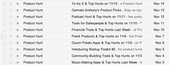 Why Product Hunt's Emails Are So Addictive image product hunt daily emails.png
