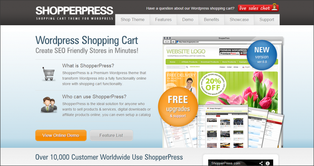 16 Online Shopping Cart Solutions For Small Businesses image shopperpress 1024x540.png