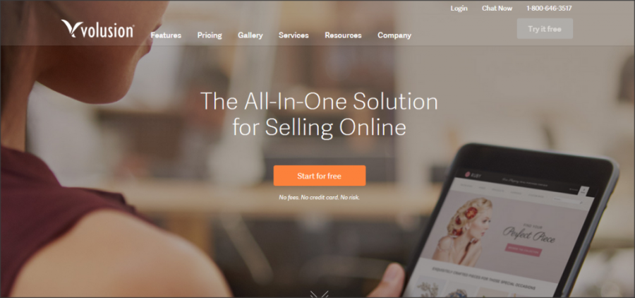 16 Online Shopping Cart Solutions For Small Businesses image volusion 1024x481.png 900x422
