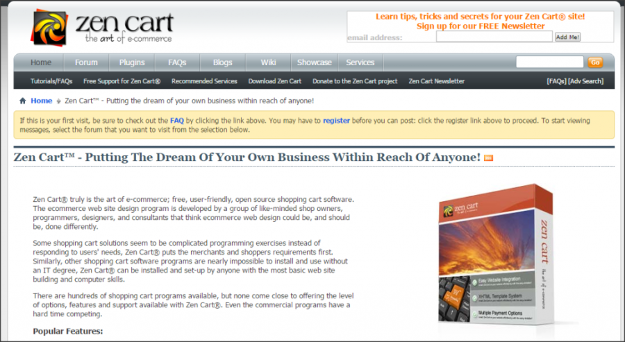 16 Online Shopping Cart Solutions For Small Businesses image zen cart 1024x561.png 900x493