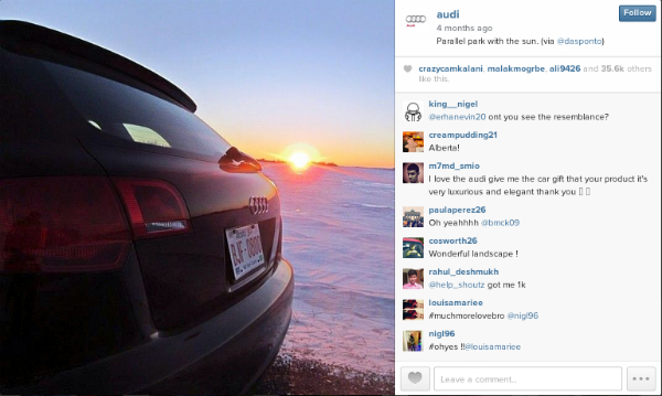 Want To Generate A Ton of UGC? Run An Instagram Photo Contest! image Audi UGC Blog.jpg