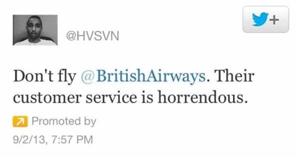 Worst Practices For Social Media Customer Service image Biritsh Airways1.png