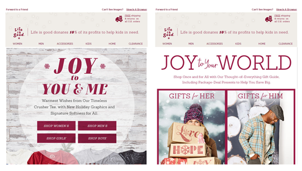 'Tis The Season To Send Email – A Designer's Thoughts image Lifeisgood1.png