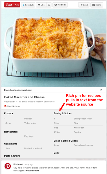 5 Best Practices You Can Use to Get Your Pins Found in Pinterest's Smart Feed image Macaroni and Cheese Pinterest 368x600.png