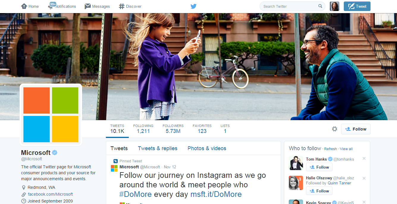 5 Brands With A Well Rounded Social Media Presence image Microsoft Twitter.png