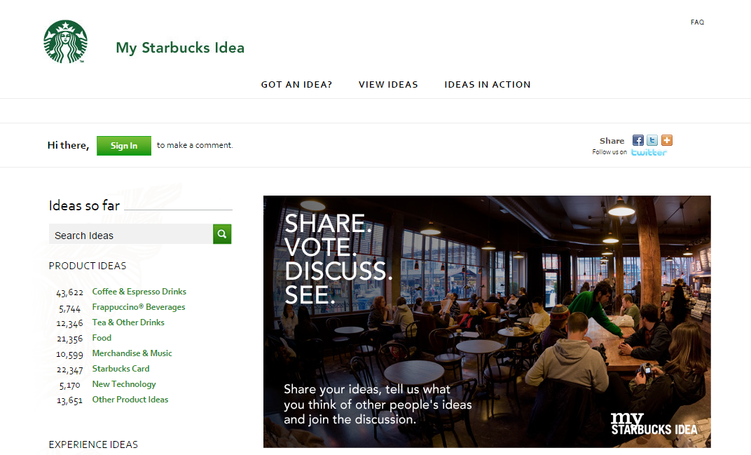 5 Brands With A Well Rounded Social Media Presence image My Starbucks Idea.png
