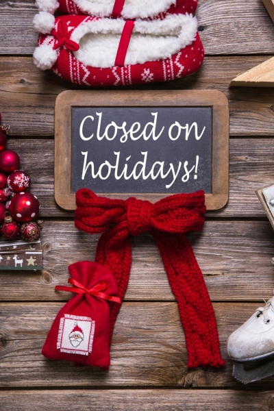Holiday Shut Down: Should You Pause or Keep Going? image Opening hours on christmas holidays closed information for customers and guests 400x600