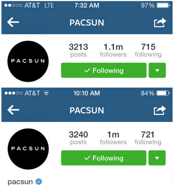 """Lost a Bunch of """"Followers"""" in Instapurge? Don't Worry About It Too Much. image Pacsun Follower hit.jpg"""
