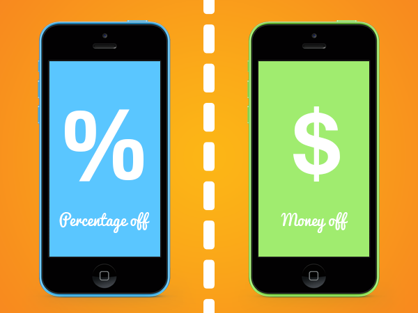 What Works Best   Percentage Deal or Money Off Offer? image Percentage or money off USA