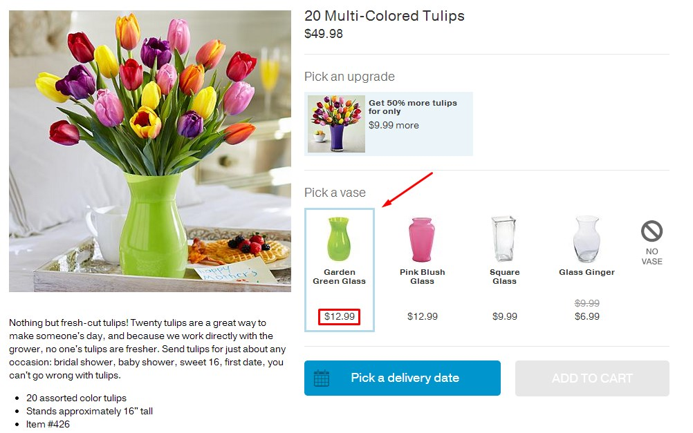 The Science Behind Bad Decisions: How It Affects Online Retailers image Pro Flowers Example