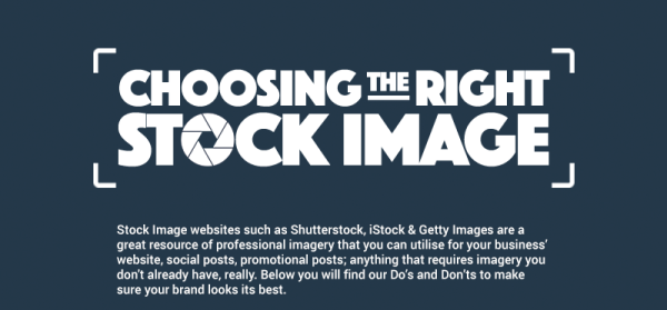 How To Choose The Right Images For Your Brand [Infographic] image Stock1 600x279.png