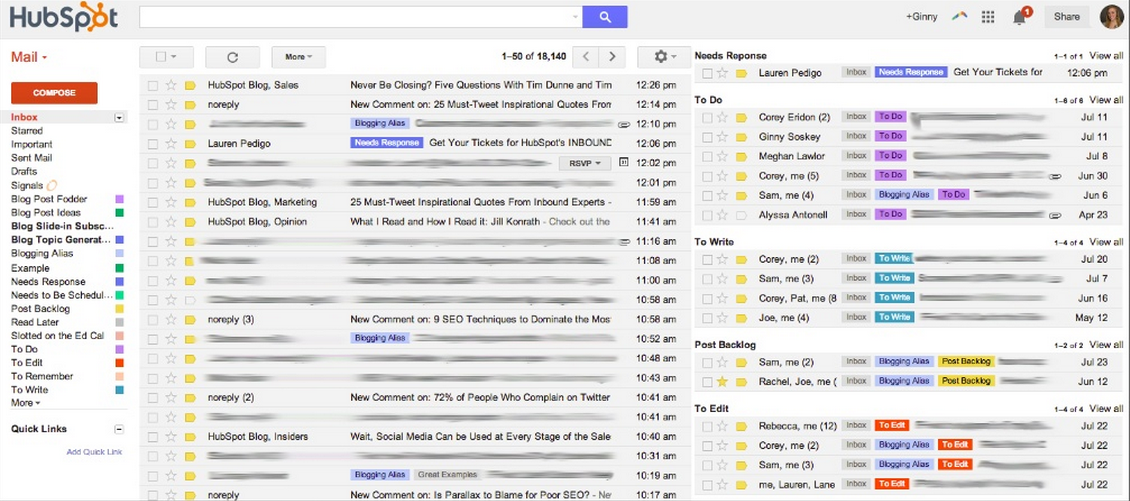 How To Get A Million+ Blog Visits Per Month image email inbox organization.png