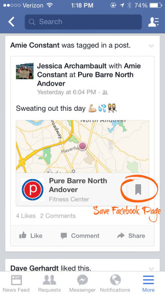 Social Media Quick Tips: Using The Facebook Save Feature image save mobile with circled save 338x600.jpg