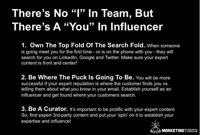 Influencer MarketingThink.com @GerryMoran Theres No I In Team, But Theres A You In Influencer