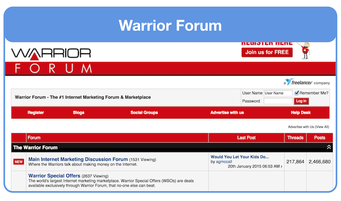 ask for landing page feedback on warrior forum