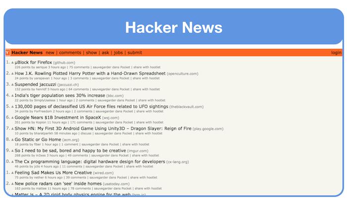 get landing page feedback on hacker news