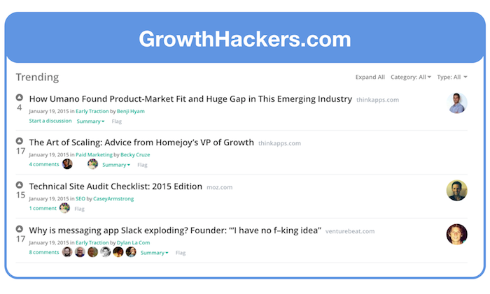 GrowthHackers Community for Landing Page Feedback
