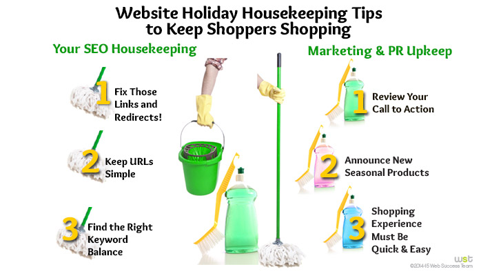 Website Holiday Housekeeping Tips to Keep Shoppers Shopping image linkedn