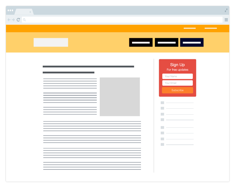 Sidebar Optin for Lead Generation