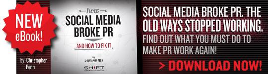 Download our new eBook, How Social Broke PR