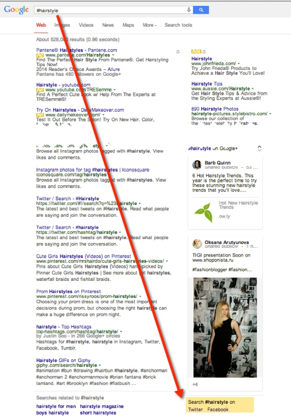 google indexes facebook results