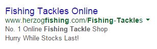 PPC ad headlines false claim ad example