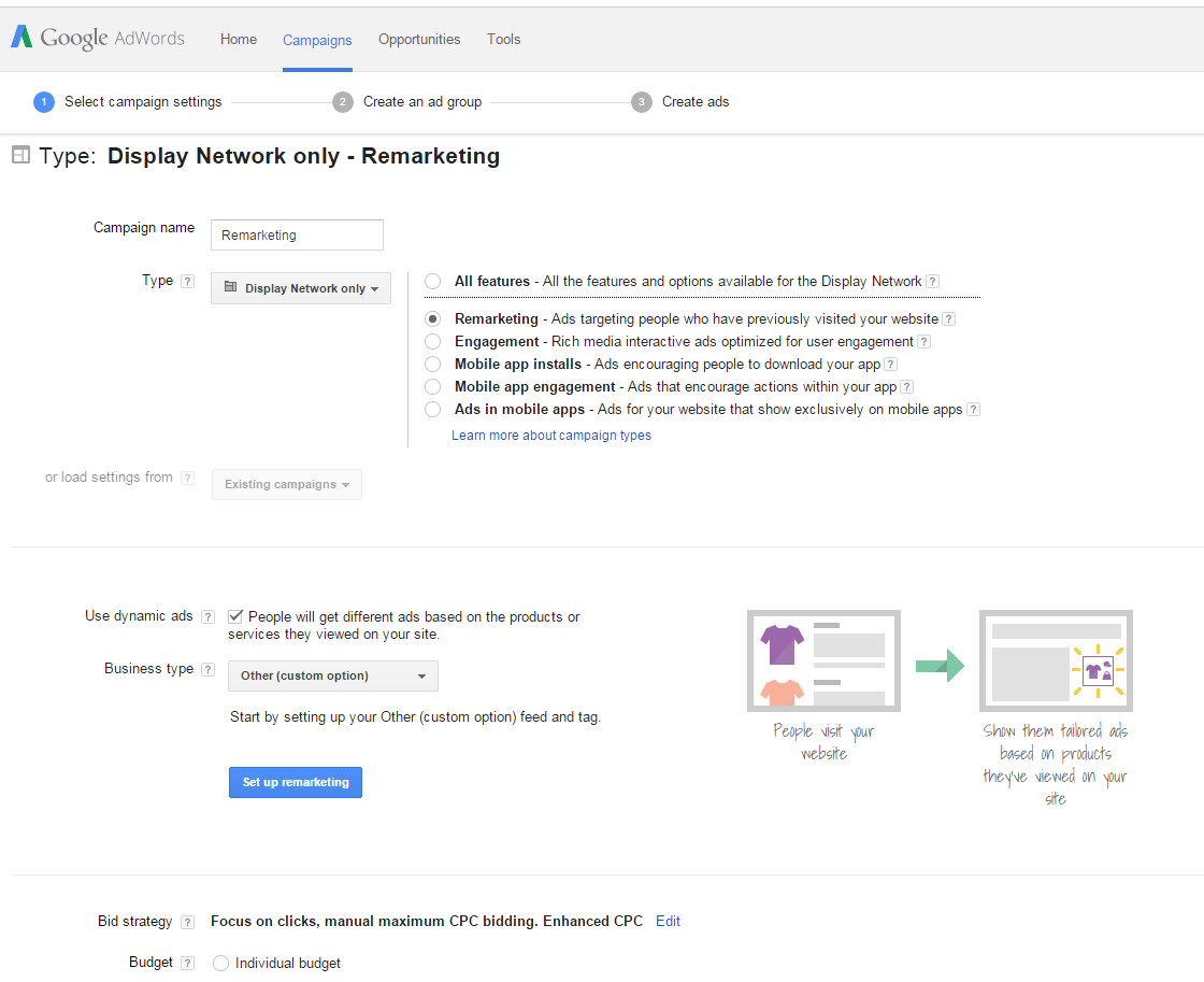 Remarketing for e-commerce PPC