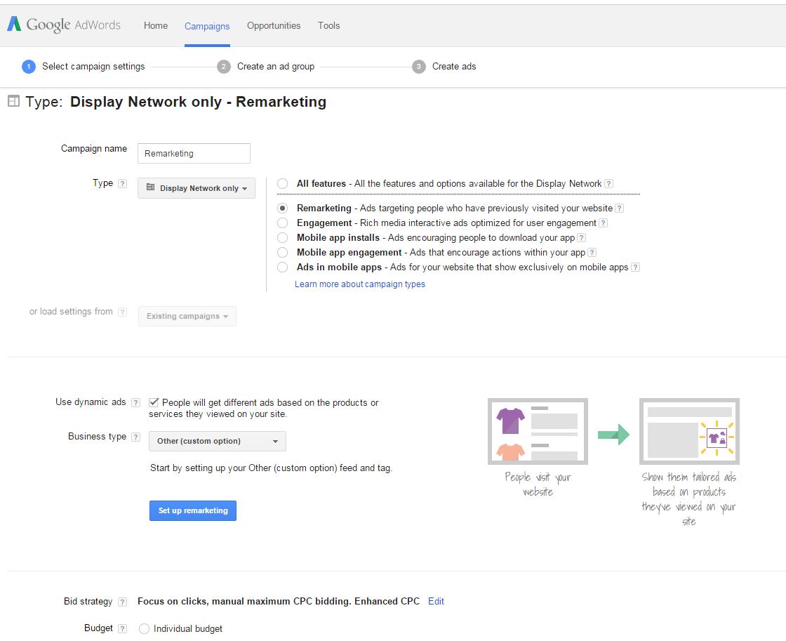 Remarketing for e-commerce PPC