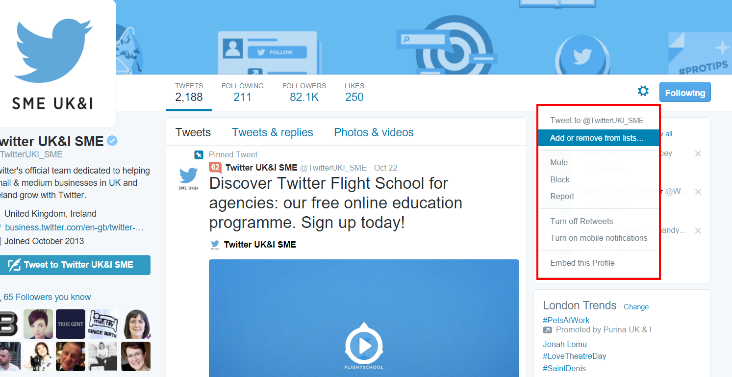 how to create a list on twitter