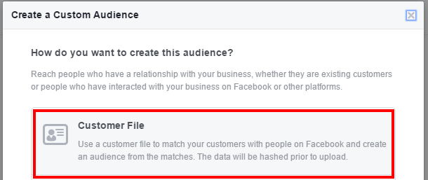 Create Customer Audience - 9 new and semi-secret Facebook targeting options