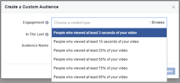 custom audience video engagement 9 new and semi-secret Facebook targeting options