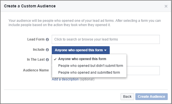 custom audience lead ads 9 new and semi-secret Facebook targeting options
