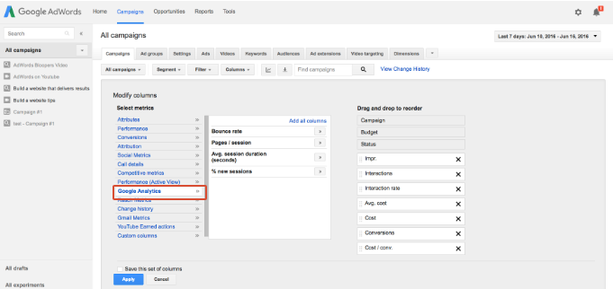 3 Underused AdWords Features That'll Blow Your Mind & Boost Your Bottom Line - viewing analytics data in adwords