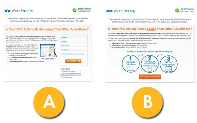 6 Landing Page Copywriting Principles for More Conversions -  landing page copywriting testing