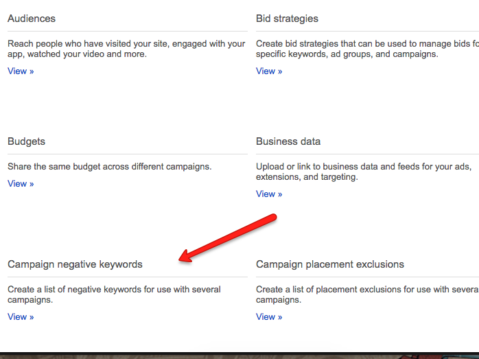 3 Underused AdWords Features That'll Blow Your Mind & Boost Your Bottom Line - adwords campaign negatives