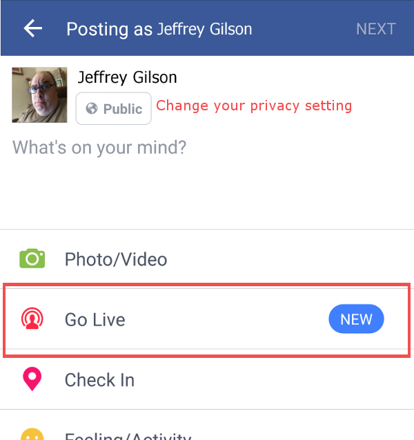 3 Ideas for Your First Facebook Live Video - Facebook Live video setup