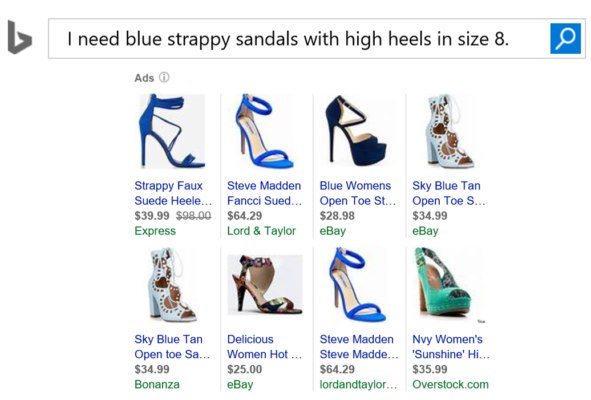 SEO and voice search-proof your shopping campaigns this holiday season to win the omni-channel shopper - Sample product ads for shoes