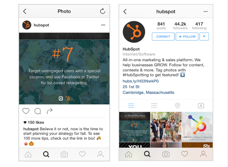 Landing Page Promotional Tips to Drive Qualified Leads - Instagram hubspot