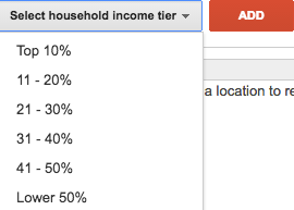 3 Underused AdWords Features That'll Blow Your Mind & Boost Your Bottom Line - targeting household income bracket