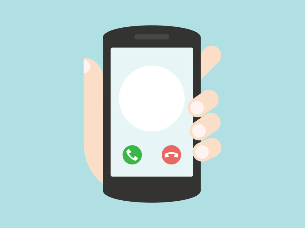 Apple, Google Partner To Kill Robocalls - Incoming call on smartphone screen